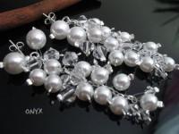 Kolczyki Swarovski grona perły b