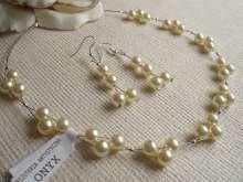 Komplet ślubny  Ecru #kod27 #, Biżuteria