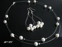 Komplet Białe Perły #kod 41#