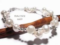 Bransoleta naturalne perły