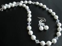 KOMPLET Biżuterii Białe perły II
