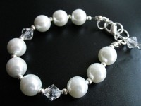 Białe perły II bransoleta