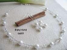 Komplet ślubny Kryształki i perły kod 100
