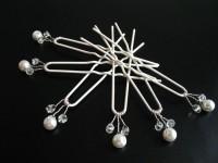 Kokówki białe i kryształki kpl 6 szt