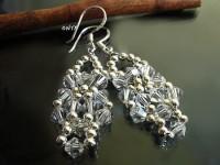 Kolczyki bicone crystal