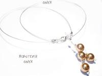Naszyjnik złote perły