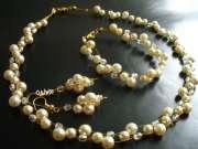 Komplet ślubny Kryształy i perły, Biżuteria