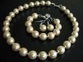 Komplet perły ECRU Duże Biżuteria