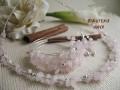 Komplet biżuterii Kwarc kamienie